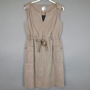 Anthropologie Trench Khaki Dress with Pockets